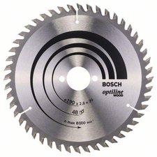 Bosch Optiline Wood Kreissägeblatt 190 x 30 x 2,6 mm WZ 48 (2 608 640 617)