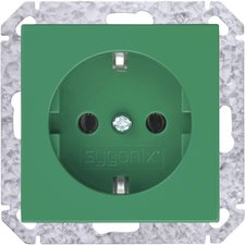Sygonix Steckdoseneinsatz, grün 33526Q