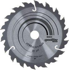 Bosch Kreissägeblatt 160 x 20 x 2,4 mm 18Z Speedline Wood (2608640787)