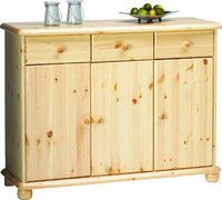 Steens Furniture Ltd 20222519 Sideboard Max 93 x 120 x 40 cm Kiefer massiv natur lackiert