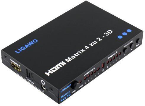 Ligawo 6518720 HDMI Matrix 4 x 2 3D
