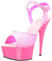 Pleaser Delight 609 glitter/neon-hot-pink