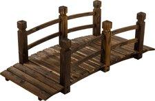 Maxstore Holzbrücke für Gartenteich XXL
