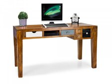 Kare Malibu Massivholz-Schreibtisch (Mangoholz)