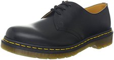 Dr. Martens 1461 black smooth/yellow stitch