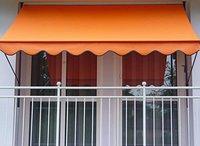 Angerer Klemm-Markise (250 x 150 cm) uni-orange