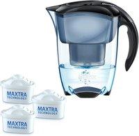 Brita Elemaris XL Wasserfilter Schwarz + 3 Kartuschen