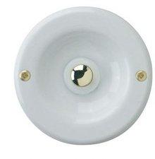 REV Klingeltaster Metall, weiß, rund