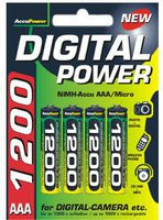 AccuPower Digital Power AP1200-4 NiMH AAA/Micro 1,2V 1200 mAh (4 St.)