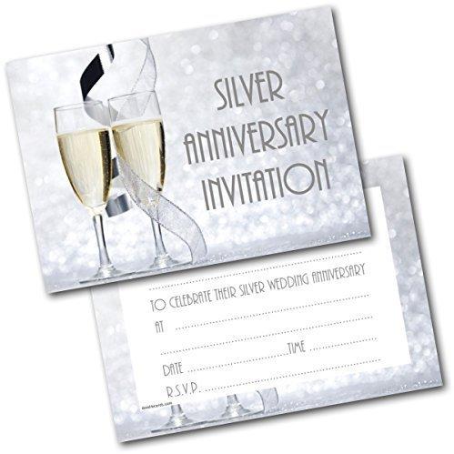 Einladungskarte Silberne Hochzeit