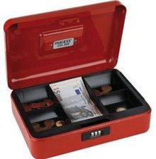Inkiess Geldkassette 260 x 90 x 190 mm, rot