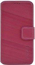 SunCase Bookstyle Tasche Wash Pink (Samsung Galaxy S4 mini)