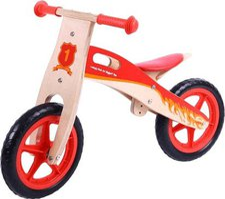 Bigjigs Toys Lauflernrad aus Holz rot