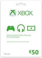 Microsoft MS Xbox Live 50 EUR Guthabenkarte