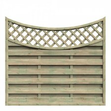 Delta Gartenholz Mailand Zaun Tiefbogen BxH: 180 x 140/160 cm