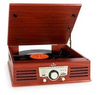 Auna TT-92B Record Player Turntable USB SD AUX FM