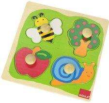 Jumbo 18021 Holzpuzzle Biene, Apfelbaum und Schnecke