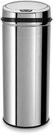 Echtwerk Edelstahl-Abfalleimer mit Sensor silber (42 L)