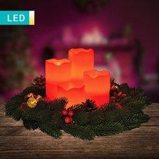 Haushalt International LED-Stumpenkerzen mit Fernbedienung (4 Stk.)