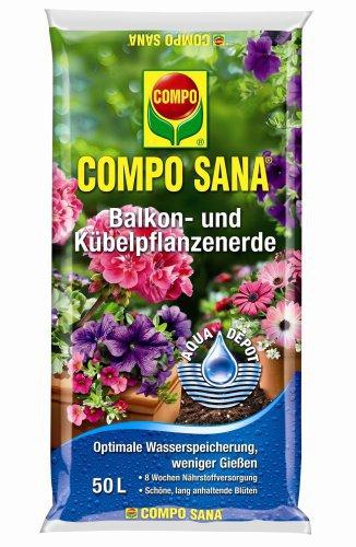 Compo Sana Balkon- und Kübelpflanzenerde 70 Liter