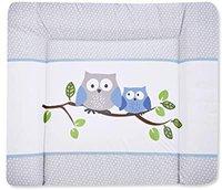 Zöllner Wickelauflage Softy Folie Kleine Eulen blau 75 x 85