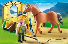 Playmobil Country - Fjord Pferd mit Pferdebox (5517)