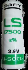 Saft Batterien LS 17500CNR Lithium-Batterie 3,6V 3600 mAh, Lötfahne