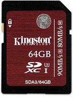 Kingston SDXC Ultra High-Speed 64GB Class 3 (SDA3/64GB)