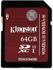 Kingston SDXC Ultra High-Speed 64GB Class 3 (SDA3/64GB)