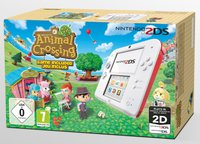 Nintendo 2DS weiß-rot + Animal Crossing: New Leaf