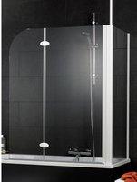 Schulte Rahmenlose Badewannenfaltwand 2-teilig mit Seitenwand (D3380)