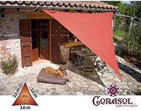 Corasol Sonnensegel Premium 3,6 x 3,6 x 3,6 m Dreieck