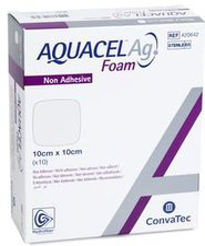 ConvaTec Aquacel Ag Foam nicht adhäsiv 10 x 10 cm (10 Stk.)
