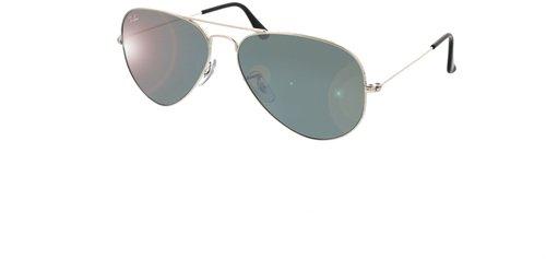 fd89a6139ef24f ... switzerland ray ban aviator large metal rb3025 w3277 silver crystal  gray mirror e8fdf 44a6c