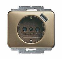Busch-Jaeger Schuko/USB-Steckdose, bronze 20 EUCBUSB-21
