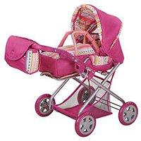 Knorr Kyra Puppenkombiwagen pink mit Streifen