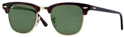 Ray-Ban Clubmaster RB 3016 W0366 Sonnenbrille in mock tortoise/arista 51/21 vbABd