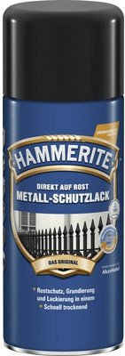 hammerite metall schutzlack gl nzend schwarz 400 ml. Black Bedroom Furniture Sets. Home Design Ideas