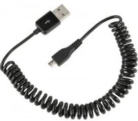 Ansmann USB to Micro USB Spiral Cable (1,5m)