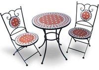 Jago Mosaik-Sitzgruppe MGTS01 3-tlg. (Stahl-Keramik)