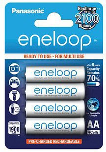 Panasonic eneloop Ready-to-Use BK-3MCCE/4BE 1,2V 1900 mAh (4 St.)