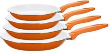 Domestic Chiron Bratpfannen-Set 20cm/24cm/28cm/32cm orange