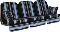 Angerer Deluxe Schaukelauflage für 3-Sitzer 180 x 50 cm