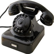 HDK Wählscheiben-Telefon W48 schwarz
