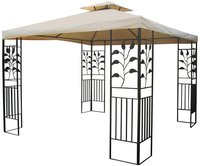 Grasekamp Pavillon Blätter 3 x 3 m