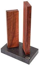 Kai Magnet-Messerblock Stonehenge Walnuss Granit unbestückt für 4 Messer