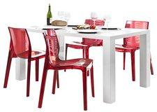 SalesFever Essgruppe Luke weiß rot (180 x 90 cm)