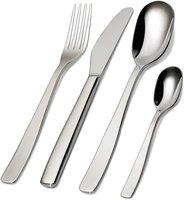 Alessi KnifeForkSpoon 18/10 poliert Besteckgarnitur 24 tlg. mit Zylinderblockmesser