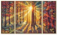 Schipper Malen nach Zahlen Triptychon Herbstwald