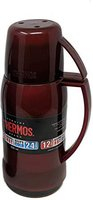 Thermos Jupiter 38 Thermosflasche mit Glaseinsatz, 0,5 l, rot/blau